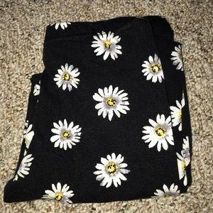 daisy printed leggings